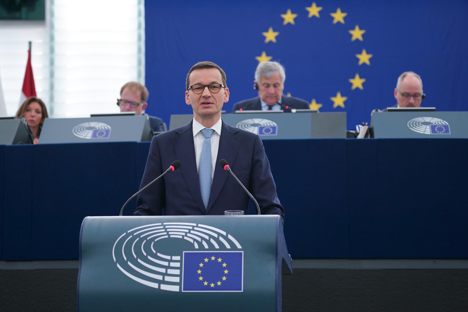 Polish Prime Minister Mateusz Morawiecki © European Parliament 2018